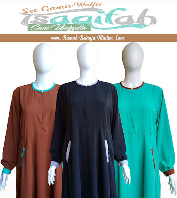 Set Gamis Wolfis Semi Umbrella Tsaqifah