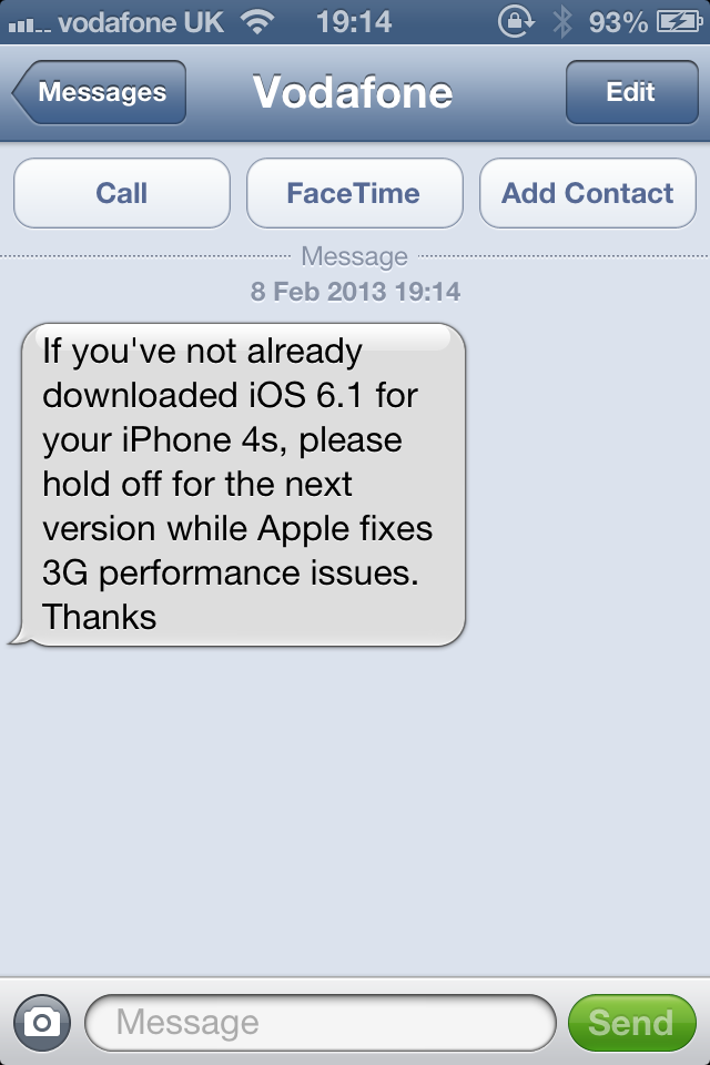 Vodafone - Text Support