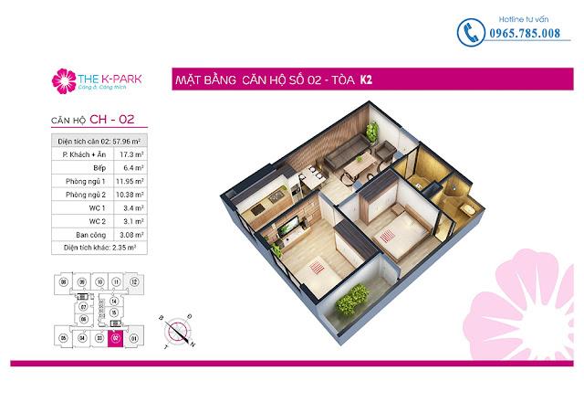 Thiết kế căn hộ 02 tòa k2