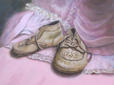 baby shoes painting