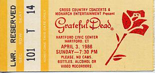 Grateful Dead, April 3, 1988