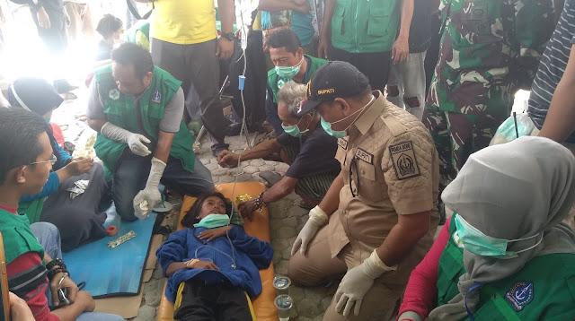 Posko Tim Medis Bone Diserbu Pengungsi, Satu Anak Diinfus