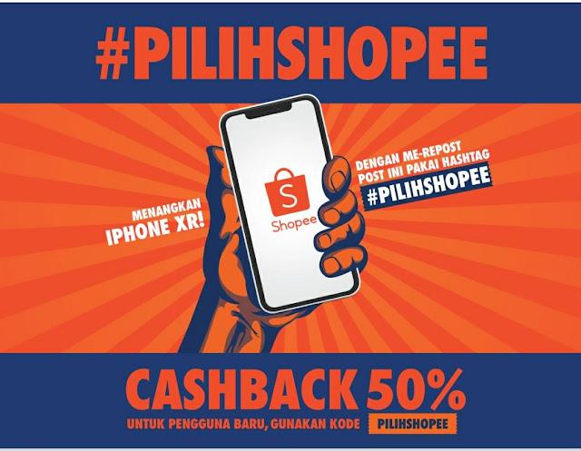 Hanya Modal Repost Dengan #PILIHSHOPEE Bisa Dapat iPhone XR Gratis