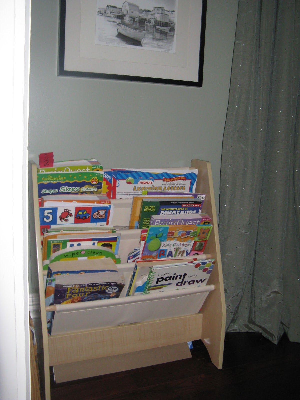 This Shelf Is From Toys R Us, And We Use It In The Dining Room For Books,  Colouring Books And Various Other Things. This Has Been So Convenient In A  Tight ...