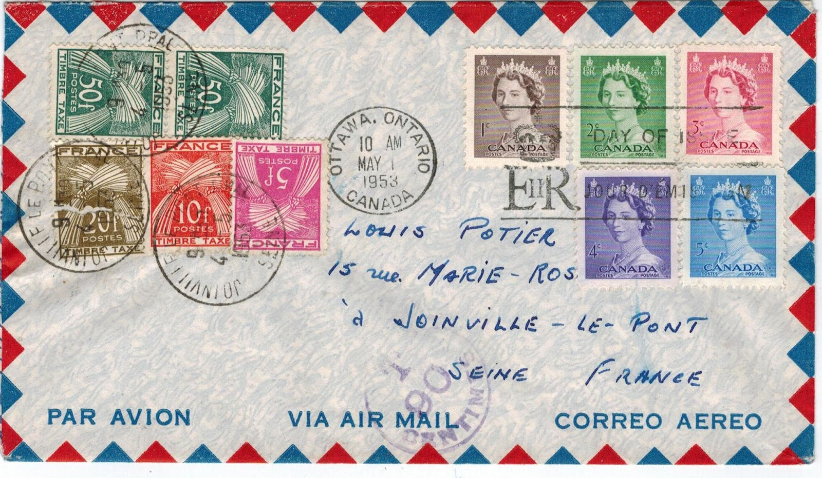 Postal History Corner 1953 A Colourful Karsh Cover