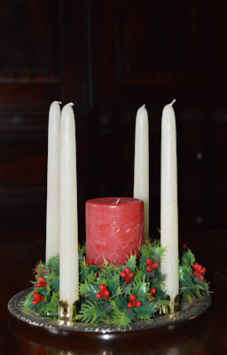 Advent candles for #christmascountdown
