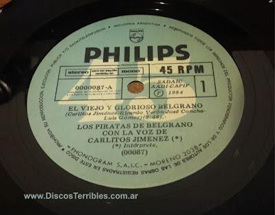 Disco vinilo Belgrano