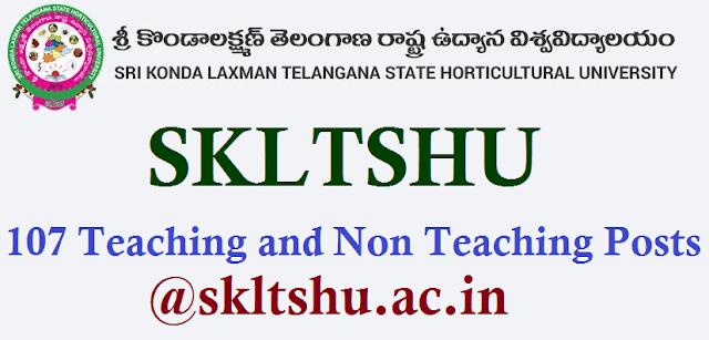 TS State, TS Jobs, TSPSC Recruitments, SKLTSHU Recruitment, Teaching and Non Teaching jobs, Sri Konda Laxman Telangana State Horticultural University, www.skltshu.ac.in