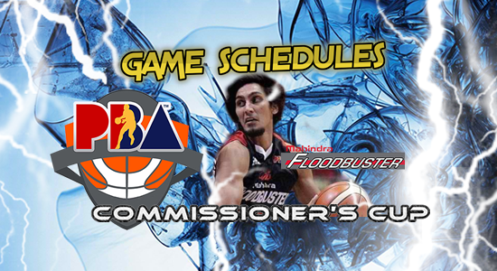 List of Mahindra Floodbuster Game Schedules 2017 PBA Commissioner's Cup