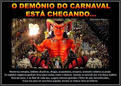 Resultado de imagem para carnaval pecado  evangélico