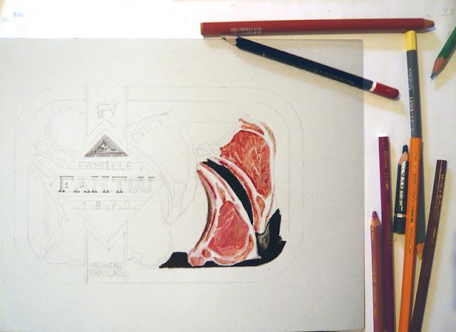 """Crayons de couleurs sur un dessin """"Pouvoir d'achat"""""""