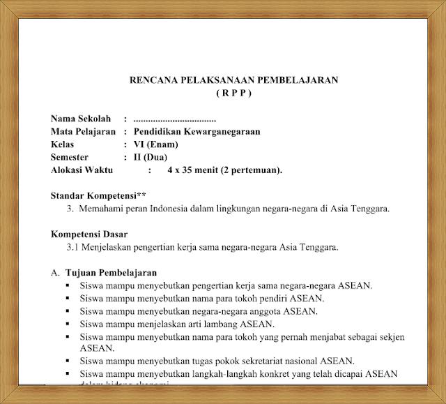 Download Gratis RPP PKN Kelas 6 Semester 2