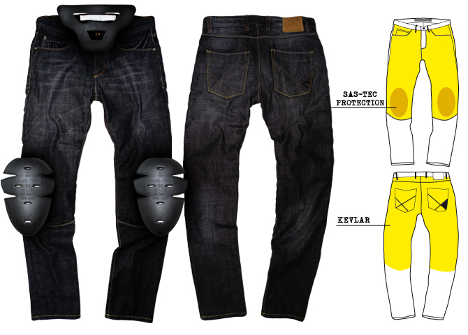 jeans con kevlar per motociclisti art 171. Black Bedroom Furniture Sets. Home Design Ideas