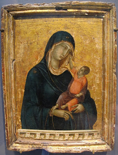 Duccio's Madonna col bambino, which is housed  in the Metropolitan Museum in New York