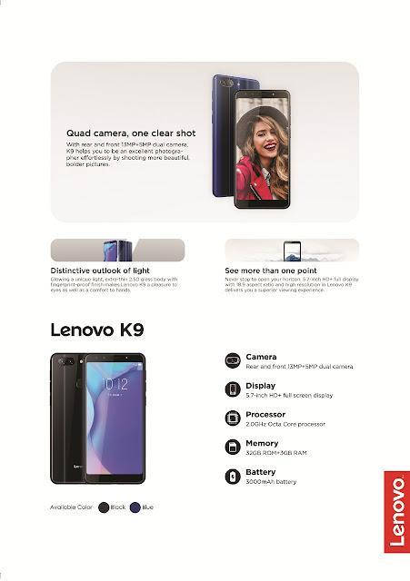 Lenovo K9 Spesifikasi