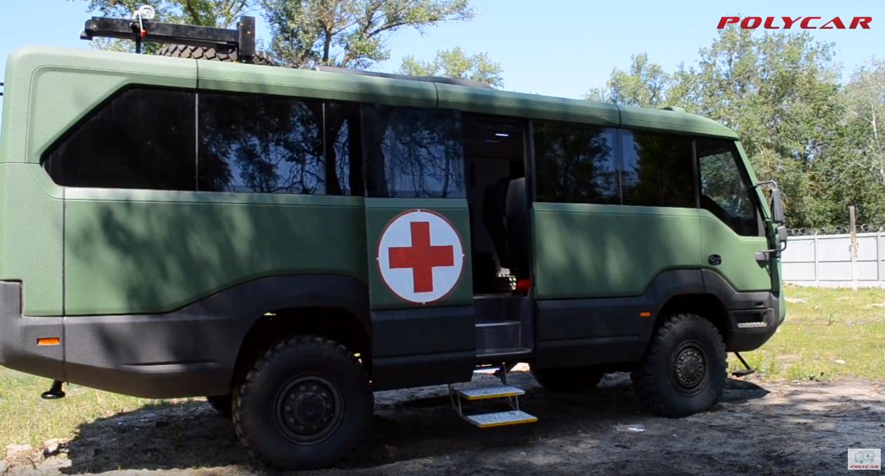 повнопривідний медичний евакуаційний автобус 4х4 Torsus Praetorian