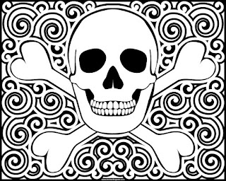 Skull coloring page- available in jpg and transparent png versions