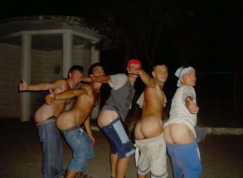 guys mooning people