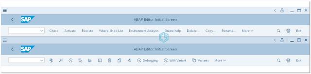 Encabezado de la Ventana Principal SAP GUI