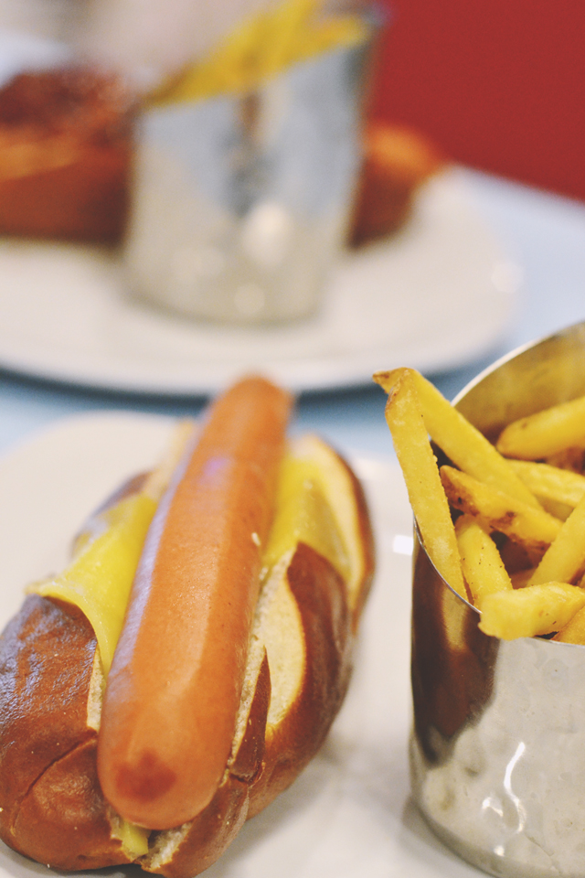 Hotdog and fries