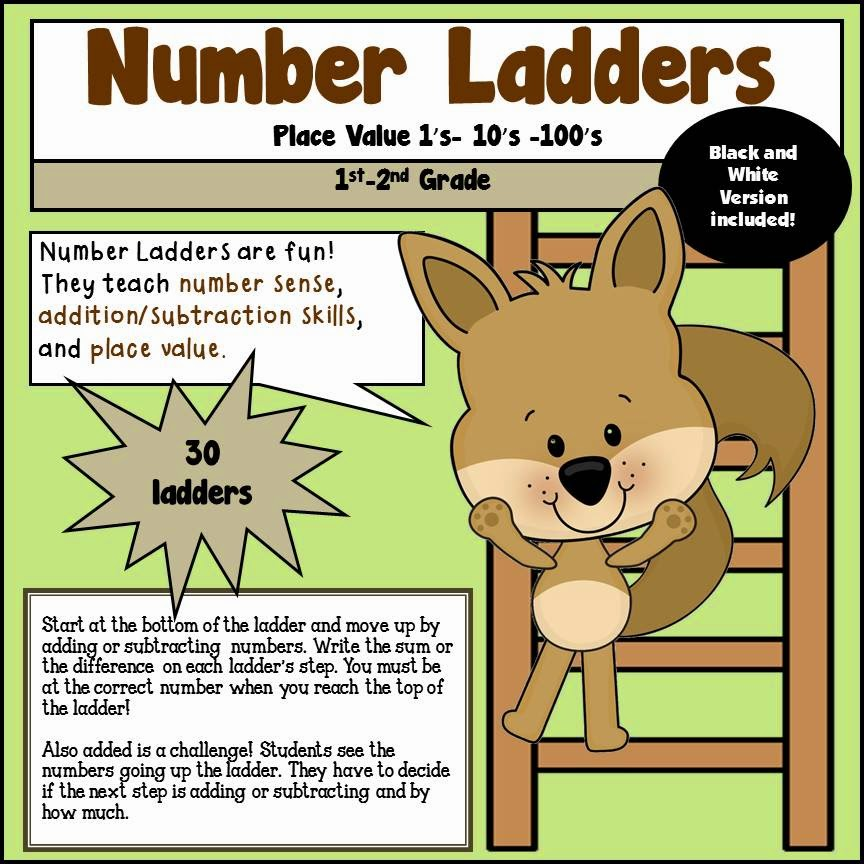 Number Ladders Place Value 1s 10s 100s