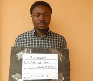Photo: Final year student of Ekiti State University arrested for alleged Internet fraud