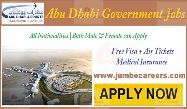 Airport jobs in Abu Dhabi with salary, Find all new vacancies in Gulf countries,