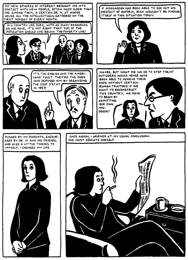 Read Chapter 18 - The Satellite, page 173, from Marjane Satrapi's Persepolis 2 - The Story of a Return