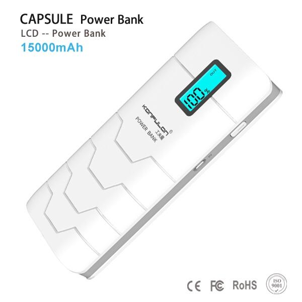 320k - Pin sạc dự phòng Konfulon CAPSULE 15.000mAh chính hãng có màn hình LCD giá sỉ và lẻ rẻ nhất
