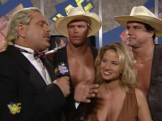 WWF / WWE - King of the Ring 96 - Sunny led the Smoking Gunns to victory against The Godwins