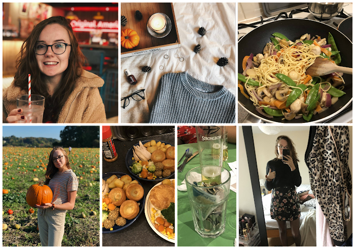 A lifestyle roundup of my week at university featuring all I've bought, watched, eaten, seen and been up to. Featuring pumpkin picking, winning the psychology pub quiz and my first video interview
