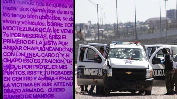 POR HABERSE VENDIDO A 'LA LINEA', CARO QUINTERO Y 'EL CHAPO' AMENAZAN CON MATAR A POLICÍAS EN CIUDAD JUÁREZ