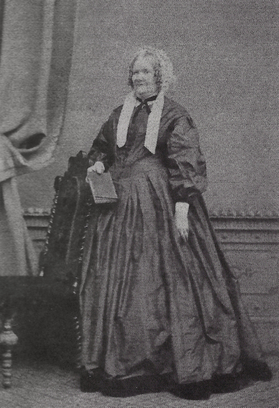 Photograph of Mrs Clary 1868 housekeeper at Potterells (aged 63). Her husband Frederick was the butler