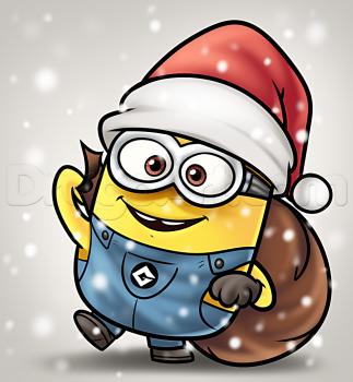 Como Desenhar Um Minion Natal Minions Desenhos Hd