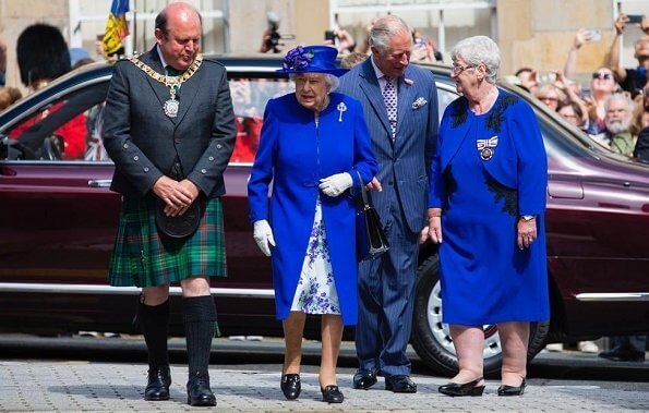 Queen Elizabeth and Prince Charles, who is known as the Duke of Rothesay