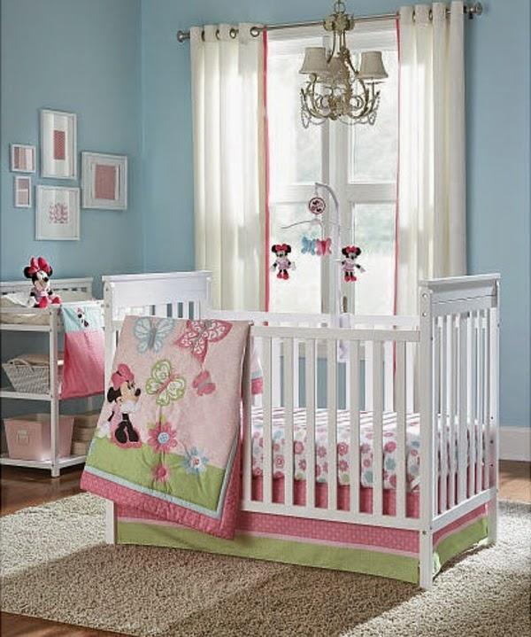 dormitorio bebé temática minnie