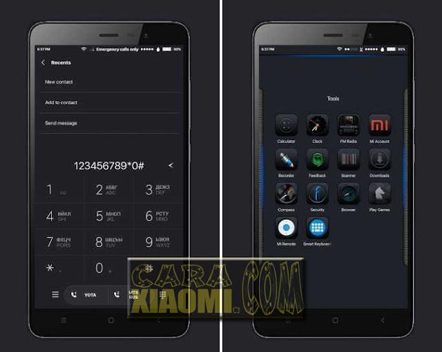 Theme iOS Black Mtz For Xiaomi MIUI