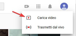 Carica video su YouTube