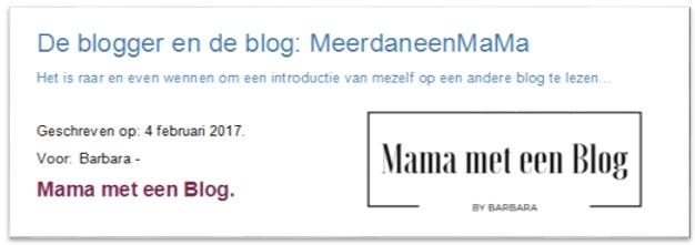 Stralen bij Mama met een blog.