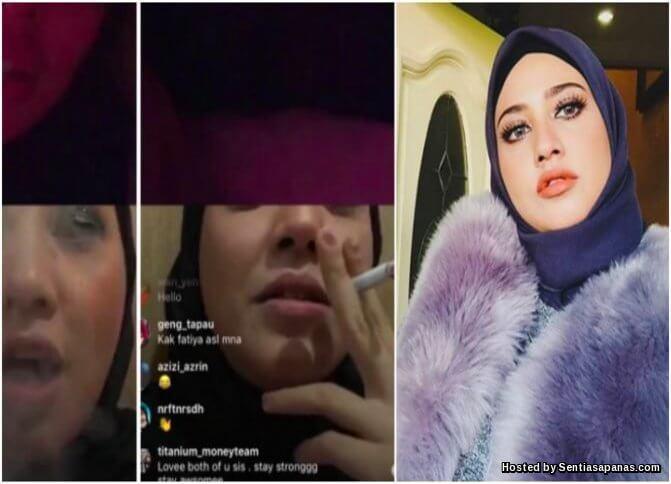 Fathia Latiff Merokok
