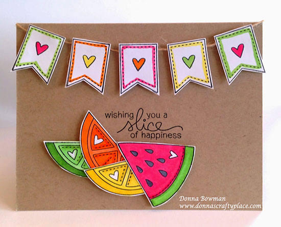 Favorite for Inky Paws Challenge #11 - Citrus Colors  - Fruit Stamp Set by Newton's Nook designs