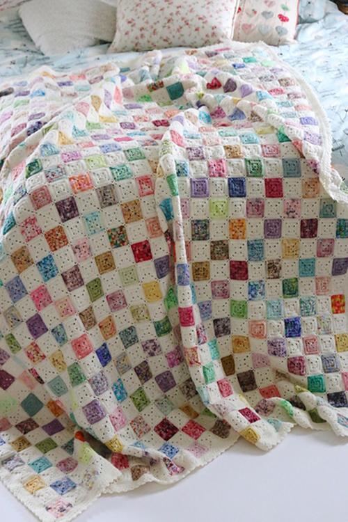 Battenberg Blanket - Free Pattern