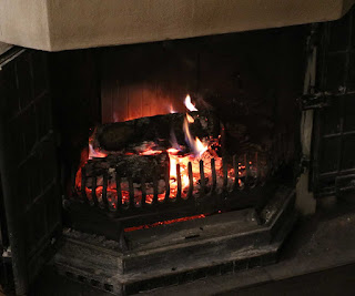 The open fire looking really lovely