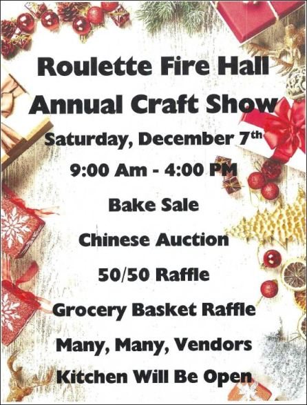 12-7 Roulette Firehall Annual Craft Show
