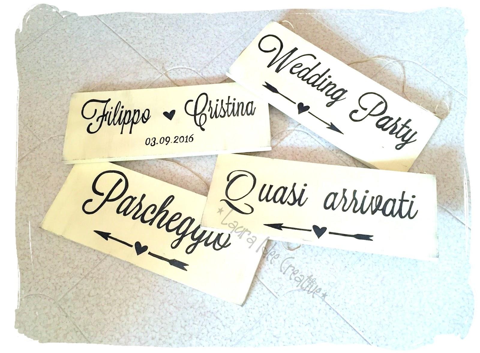 Eccezionale Laura Idee Creative: Matrimoni 2016 : Cartelli in legno per un  ZH01