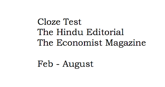 151 Cloze Test for SSC and Bank Exams Based on The Hindu and Economist