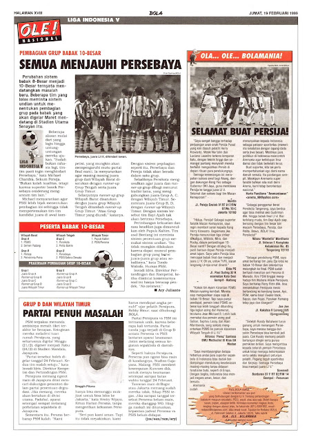 LIGA INDONESIA V GRUP BABAK 10-BESAR PERSEBAYA