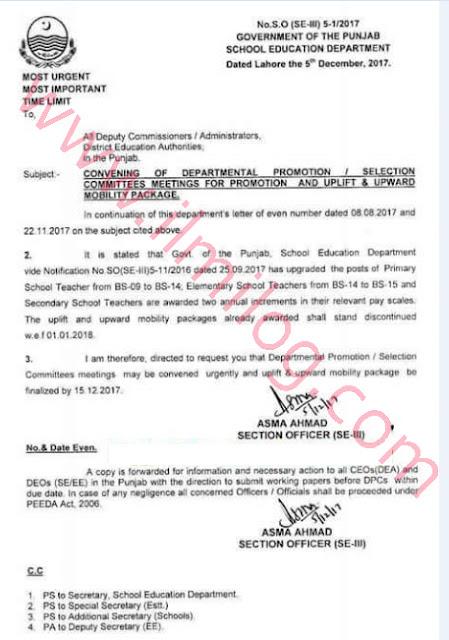 Departmental Promotion Committee Punjab