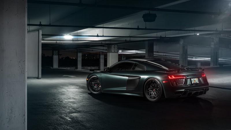 Audi R8 (Vossen Green) rear side HD