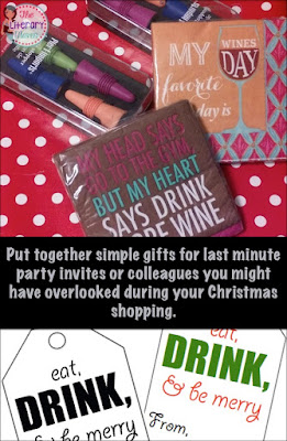 Put together simple gifts for last minute party invites or colleagues you might have overlooked during your Christmas shopping. Grab these free gift tags to go with your gift.